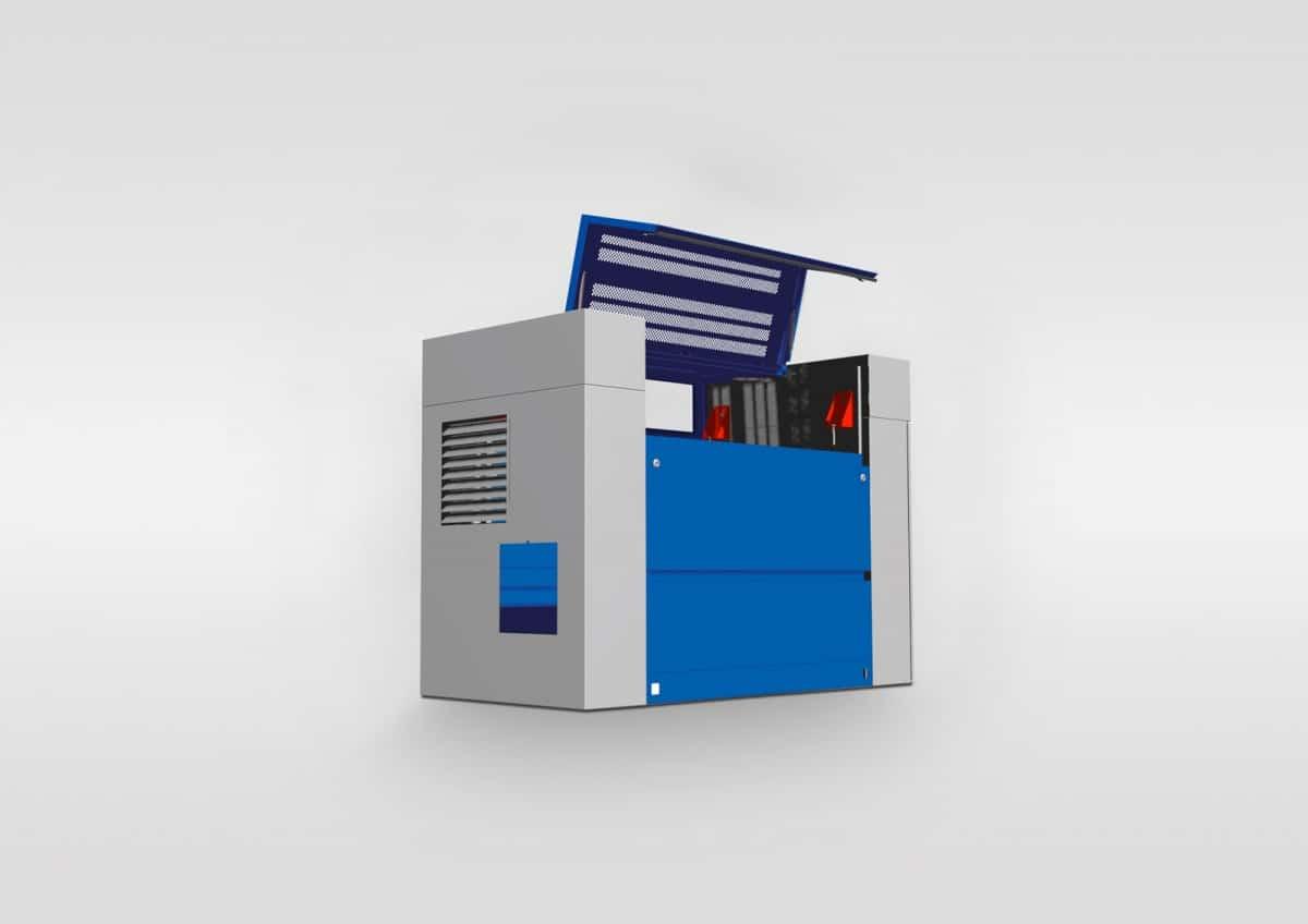 Verkleidung für Hochdruckpumpen - Verkleidung für Hochdruckpumpen mit integrierter Öffnungen für eine effektive Wärmabfuhr.