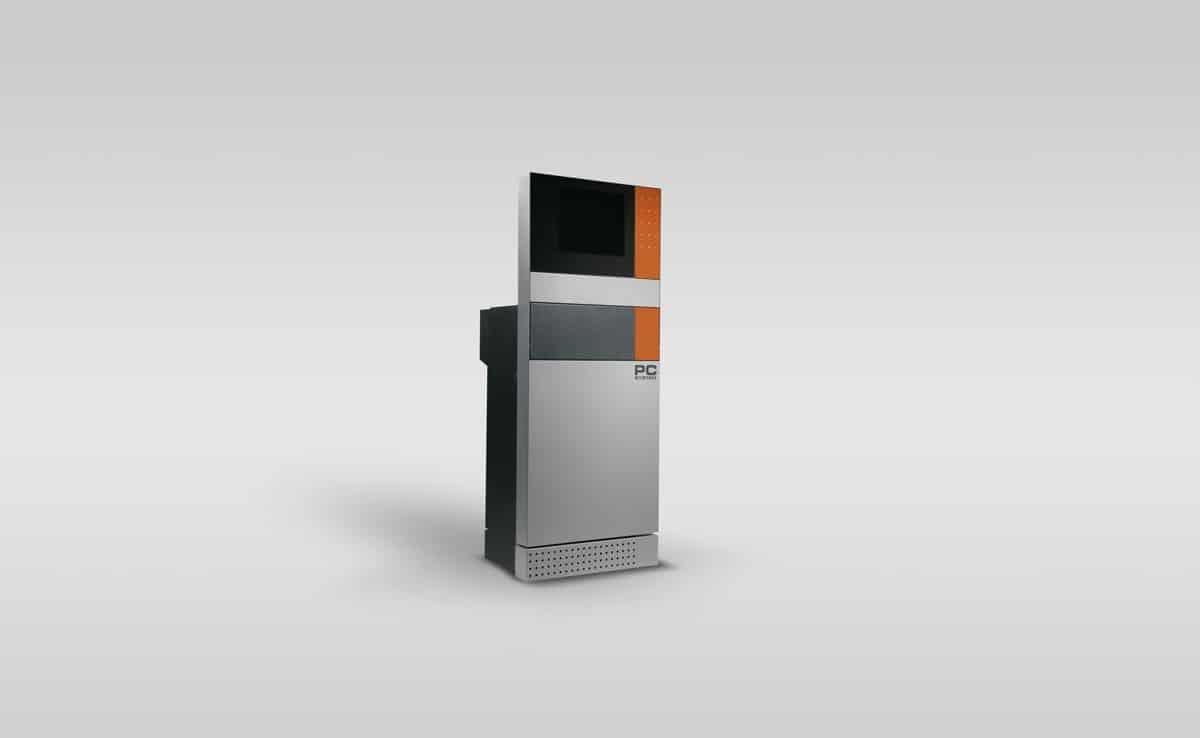 """Schaltschrank Kombination: Mensch Maschine Interface - Das """"Mensch Maschine Interface"""" ist eine Kombination aus Schaltschrank, Bedienfeld und integrierter Anzeige in einem Gehäuse."""