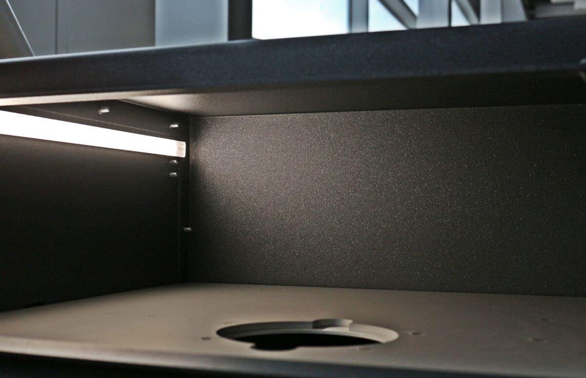 - Systemintegration von LED Streifen im Gehäuse
