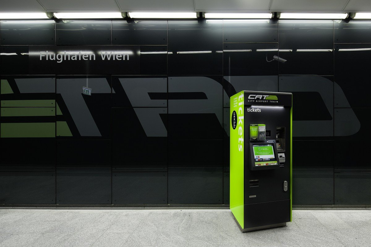 Ticketautomat für den City Airport Train (CAT) - Ticketautomat für den City Airport Train (CAT) © Christoph Panzer