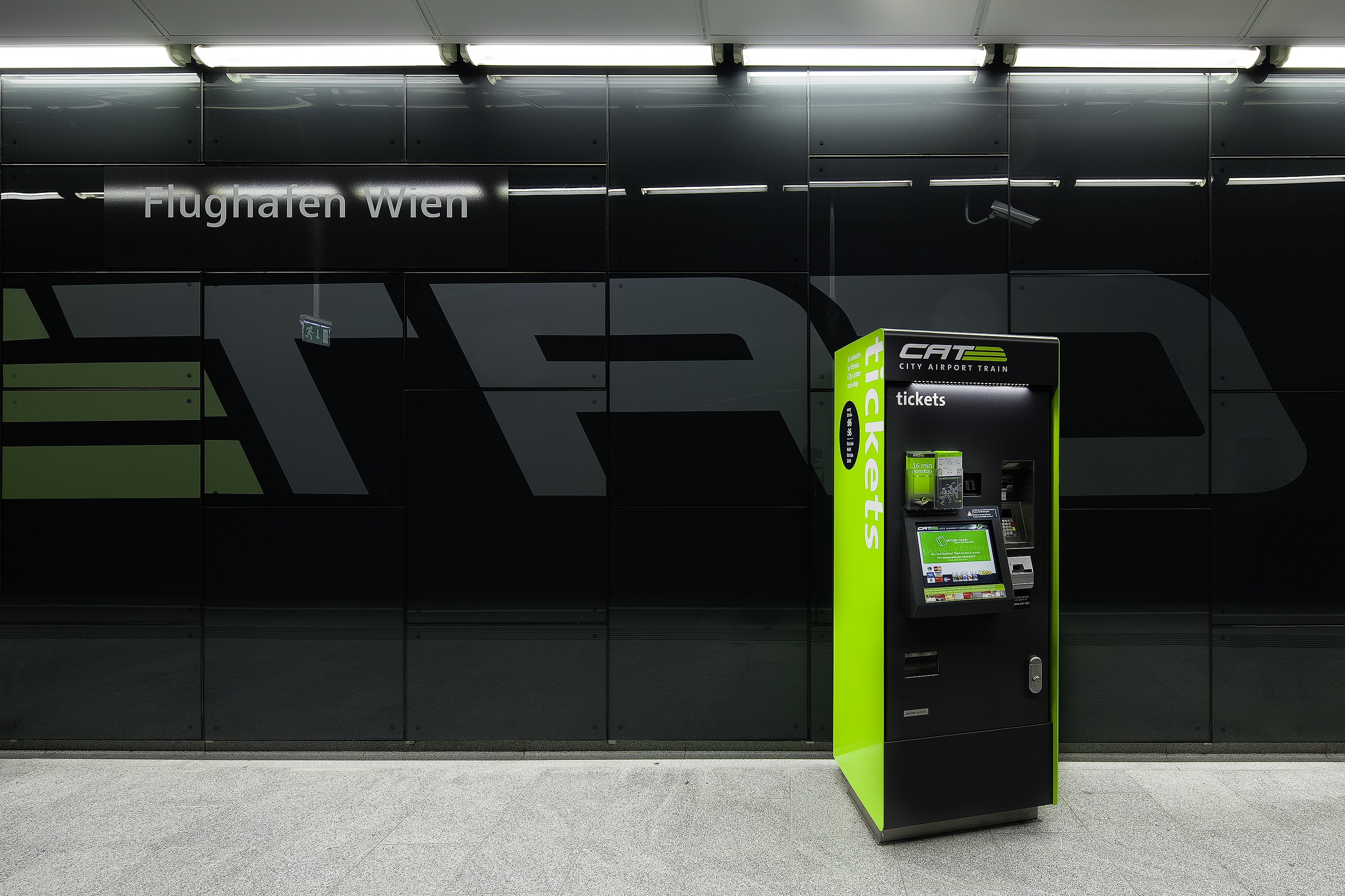 Ticketautomat für den City Airport Train (CAT)