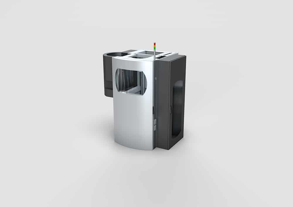 Kohlebürsten Fertigungsanlage - Kohlebürsten Fertigungsanlage mit transparenter Hubtür.