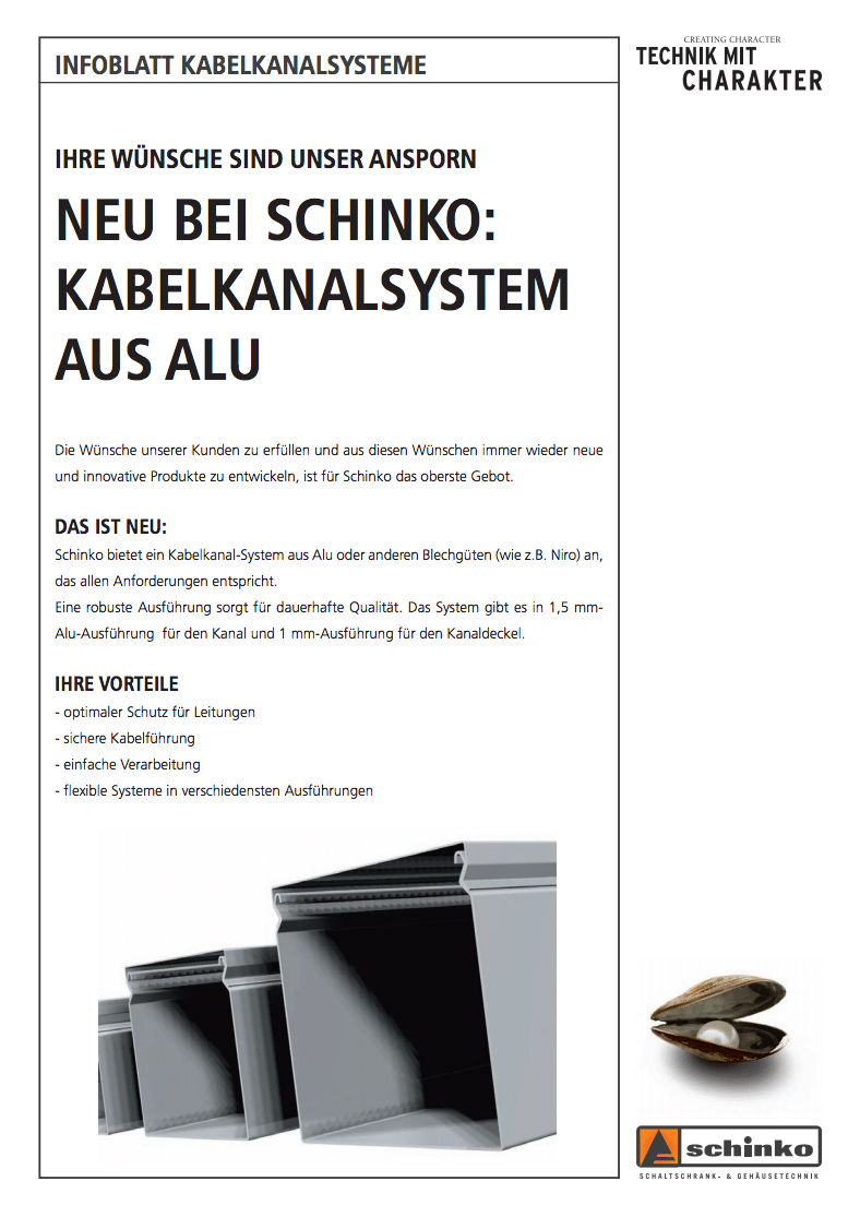 Titel Schinko Folder Kabelkanal