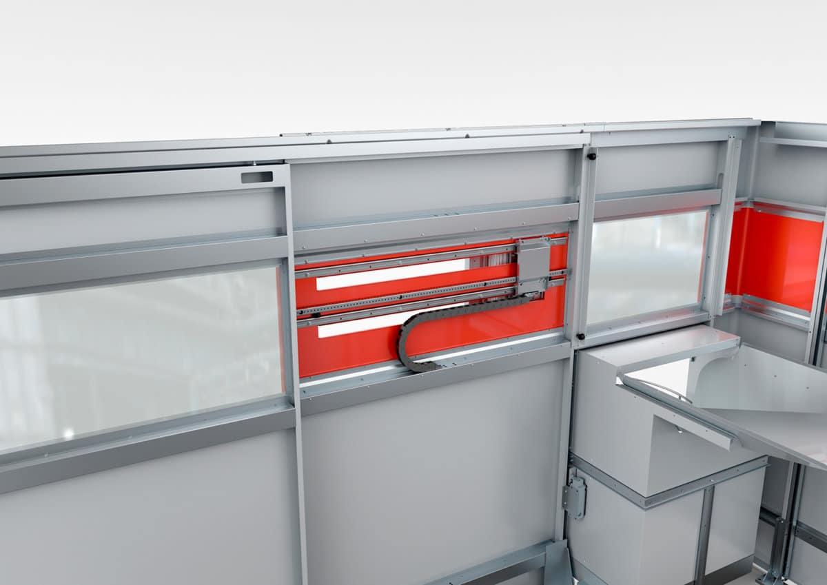 Spritz-Streck-Blasen Kunststoff-Fertigungsanlage - Detailansicht der Spritz-Streck-Blasen Kunststoff-Fertigungsanlage.