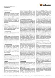 Schinko Verkauf AGBs Vorschaubild