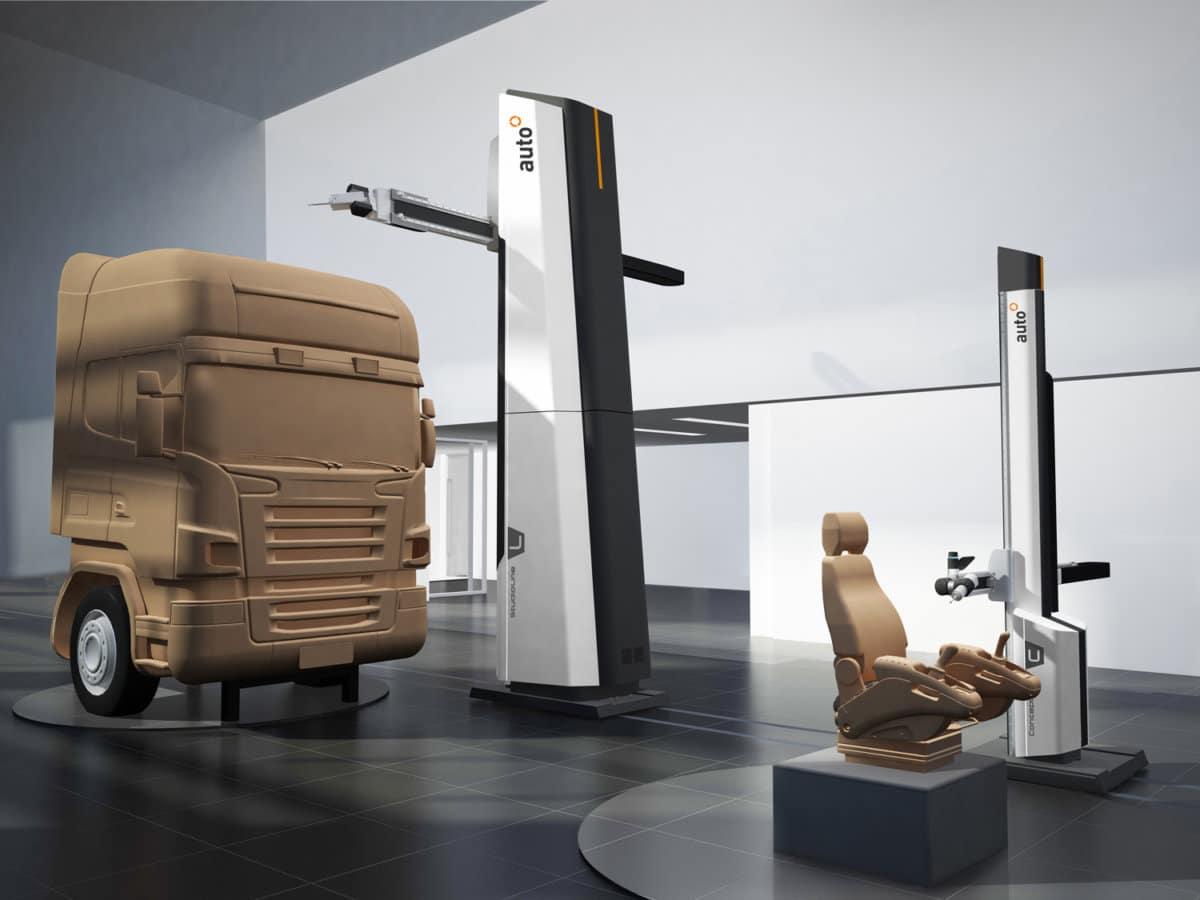 Clay Fräsanlage Automobilindustrie Detailansicht - Clay Fräsanlage für die Automobilindustrie mit modernem Interface und in stimmigem Design.