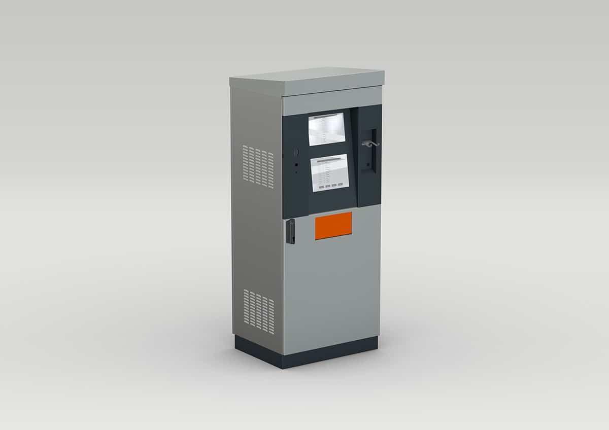 Schaltschrank für das Transportgewerbe / Spedition / Wiegeterminal - Schaltschrank für das Transportgewerbe, Spedition und Wiegeterminal aus pulverbeschichtetem Stahlblech und geschliffenem Niro.