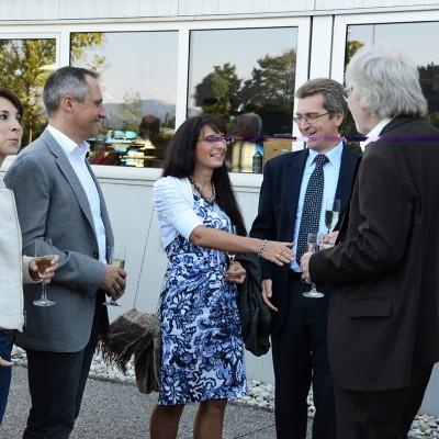 Schinko 25 Jahr Feier - Persönliche Begrüßung durch Geschäftsführer Michael Schinko beim Empfang zum Festakt der 25 Jahr Feier der Firma Schinko.
