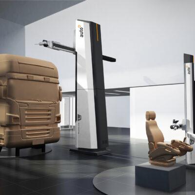 Schinko IDUKK Clay Fraesanlage Automobilindustrie Detail - Die dynamischen, leicht abgeschrägten Proportionen der Fräsmaschinen offenbaren auf stilvolle Weise dieGeschwindigkeit und Präzision der Fräsmaschine.