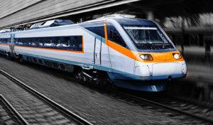 Zug am Bahnhof