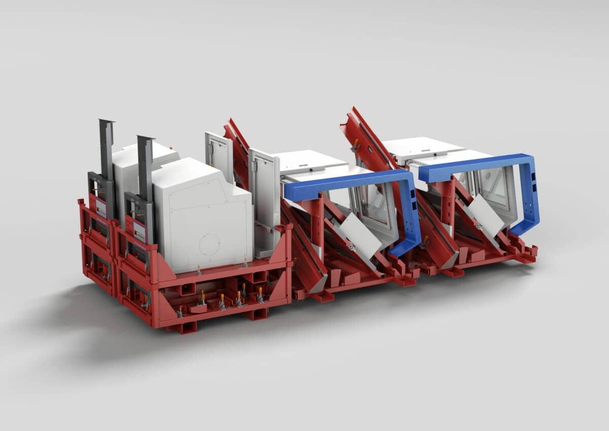Maschine auf Transportgestell - Maschine auf Transportgestell für Montage