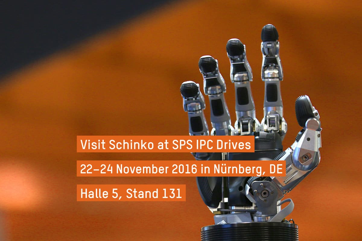 Schinko Messeankündigung SPS Drives, Nürnberg - Schinko Messeankündigung SPS Drives