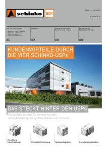 Schinko Box Nr. 24 Kundenvorteile durch die vier Schinko-USPs