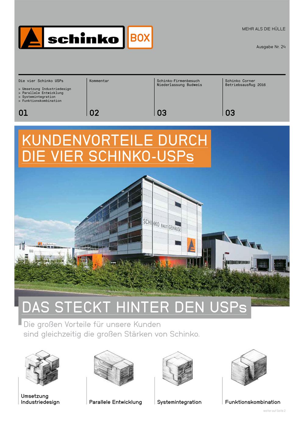 Schinko Box Nr. 24 Kundenvorteile durch die vier Schinko-USPs - Titelbild der Schinko Box Nr. 24 Kundenvorteile durch die vier Schinko-USPs