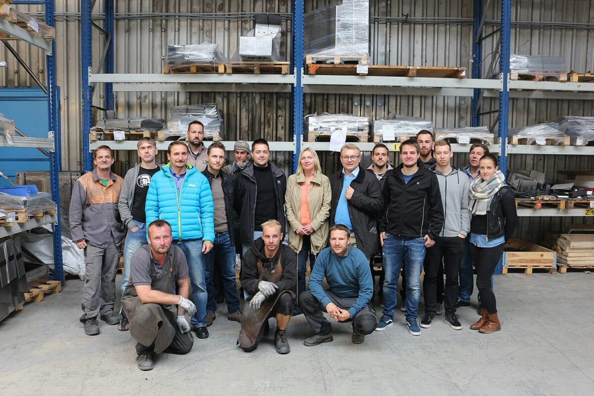 Gruppenfoto Team Fast Forward - Team Fast Forward: Verkauf und Konstruktion