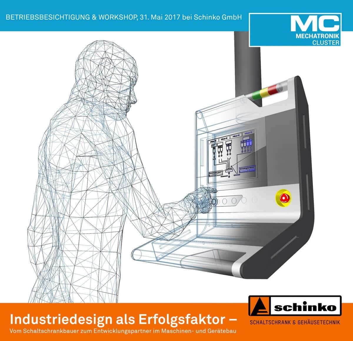 Industriedesign als Erfolgsfaktor - Betriebsbesichtigung und Workshop am 31. Mai 2017 bei Schinko GmbH