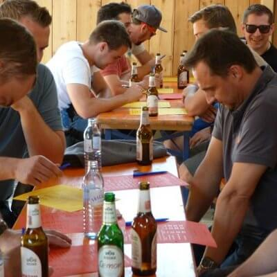 Schinko Teamworkshop - Bierolympiade am Loryhof in Wippenham