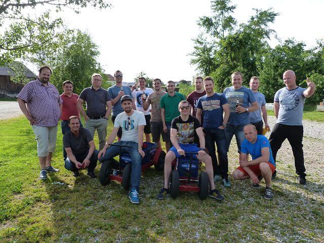 Schinko Teamworkshop - Bierolympiade am Loryhof in Wippenham