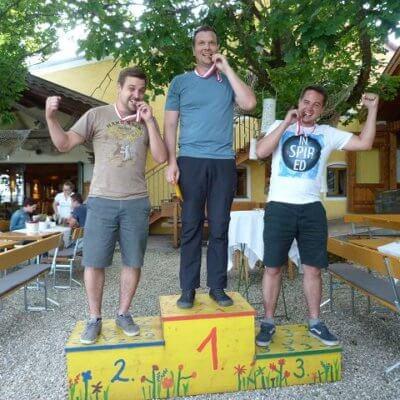 Schinko Teamworkshop - Gewinner der Bierolympiade am Loryhof in Wippenham
