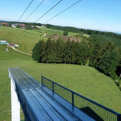 Schinko Teamworkshop - Skyflyer-Erlebnisschanze im Innviertler Ort Höhnhart