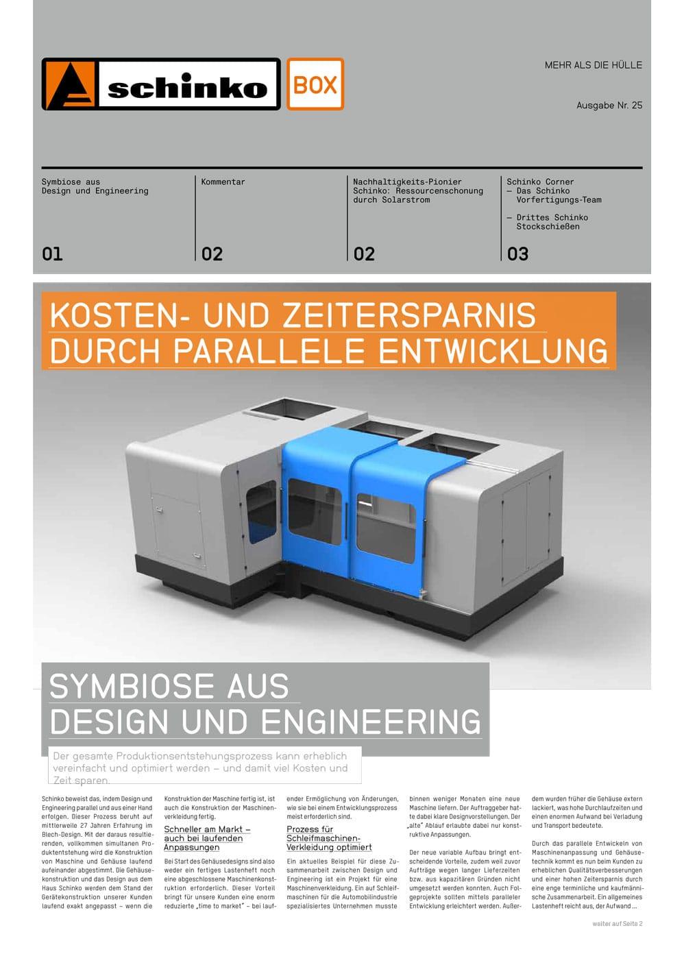 """Titelbild der Schinko Box Nr. 25 """"Kosten- und Zeitersparnis durch Parallele Entwicklung"""" - Titelbild der Schinko Box Nr. 25 """"Kosten- und Zeitersparnis durch Parallele Entwicklung"""""""
