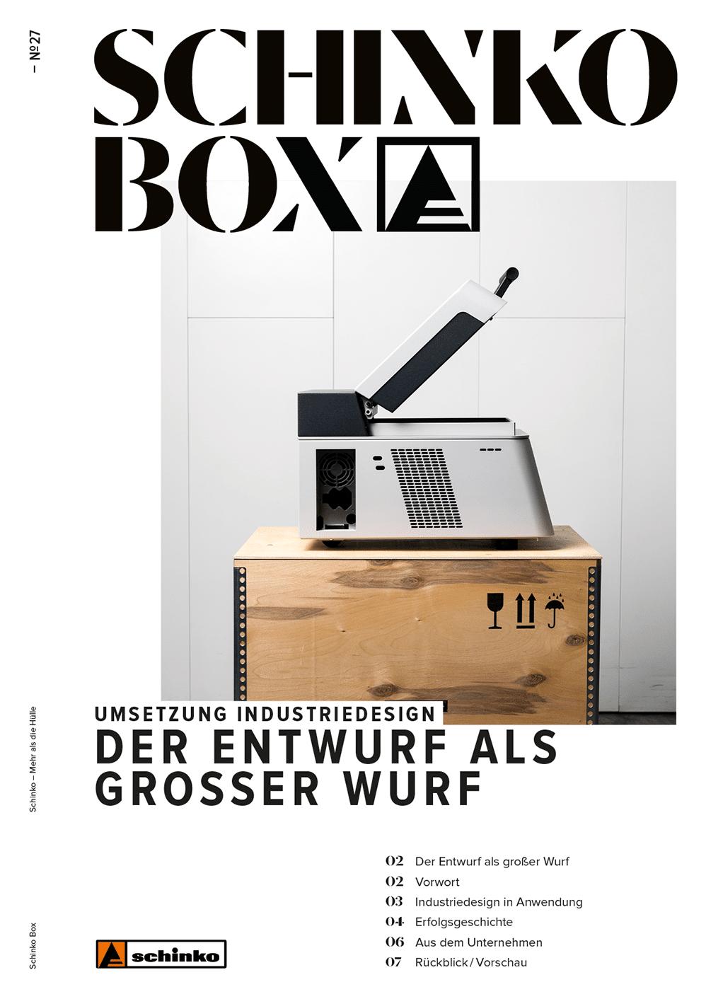 Titelbild der Schinko Box Nr. 27 –Umsetzung Industrie Design - Titelbild der Schinko Box Nr. 27 – Umsetzung Industrie Design