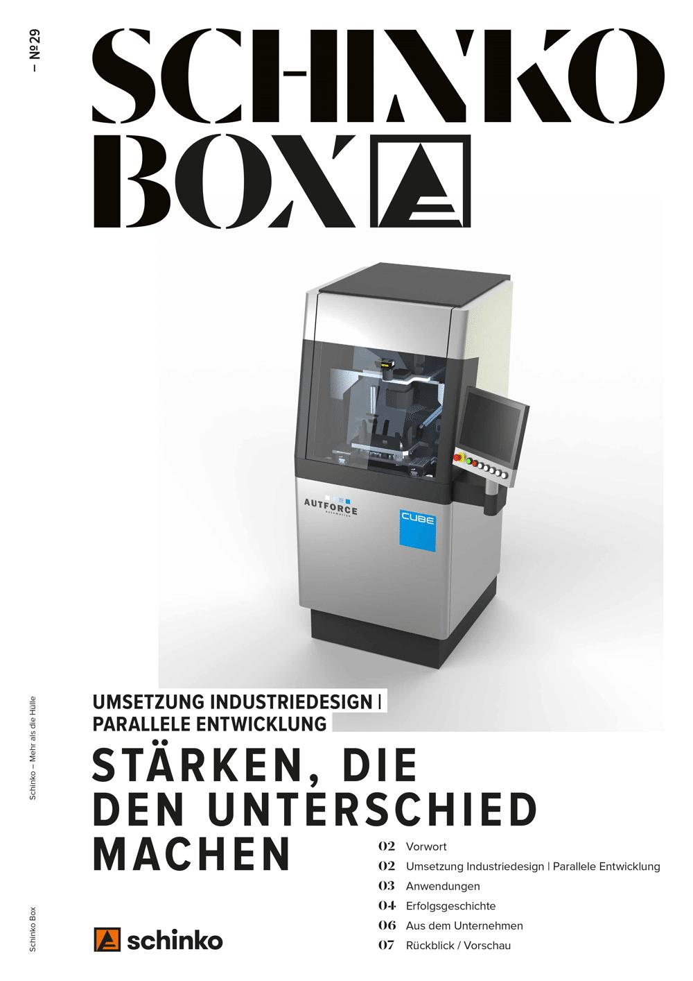Schinko Box Nr. 29 - Schinko Box Nr. 29 Umsetzung Industriedesign | Parallele Entwicklung