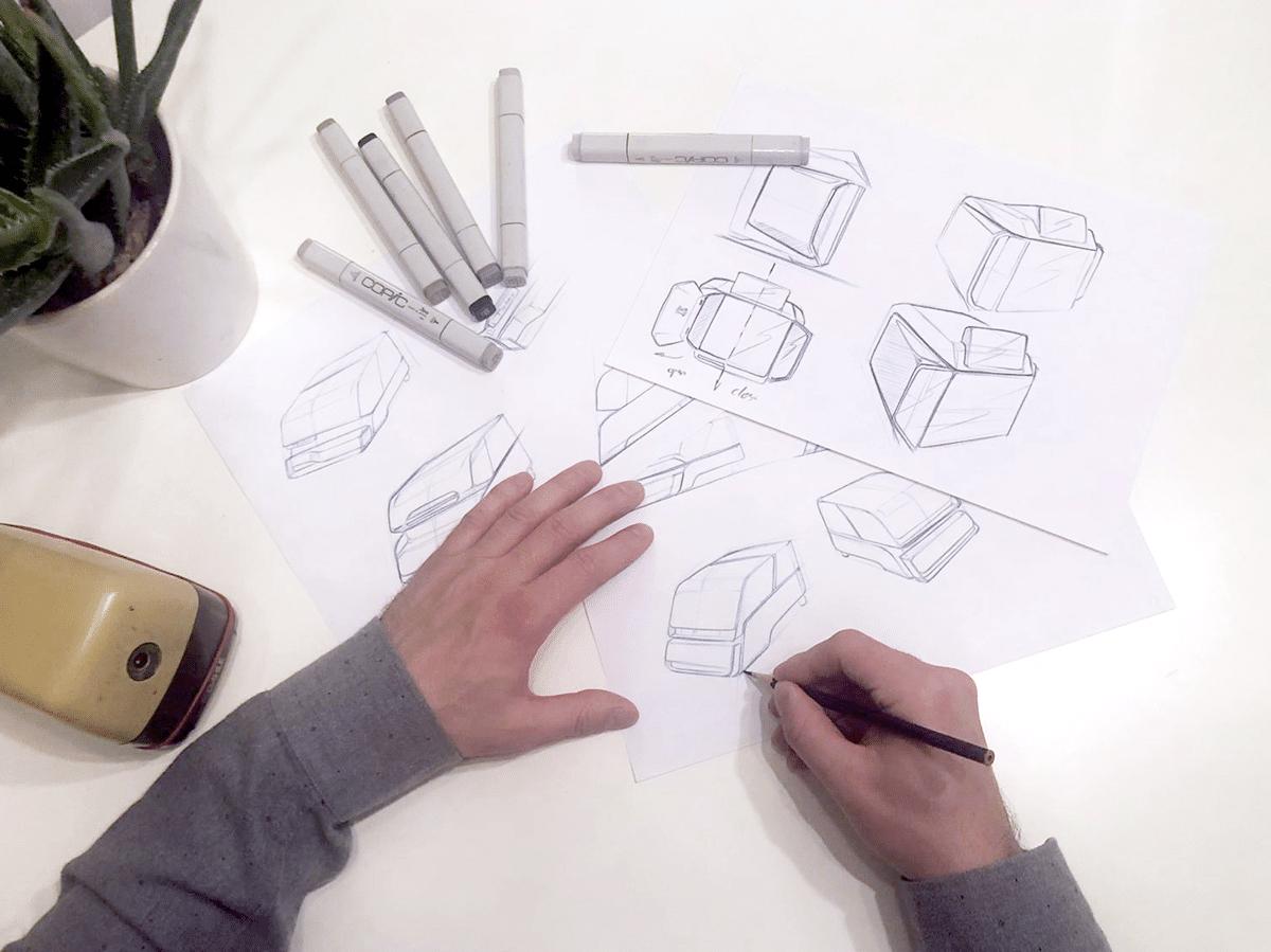Markenprägend und agil realisiert: Schinko schafft mit Industriedesign Mehrwert - Industriedesign Sketches