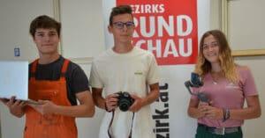 Lehrlingstrio bei Rundschau Redaktion
